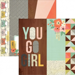 PROMO de -30% sur Papier imprimé Reset Girl 2X12, 4X12 ELEMENT Simple Stories