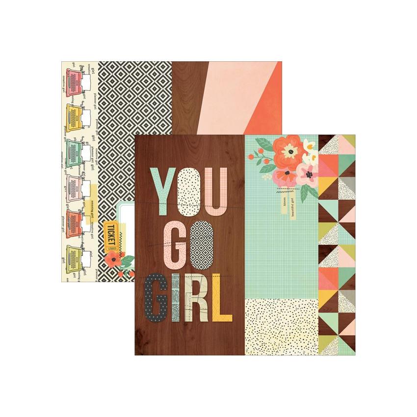 Papier imprimé Reset Girl 2X12, 4X12 ELEMNT