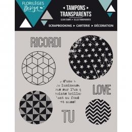 Tampons clear italien Bolle geometriche par Florilèges Design. Scrapbooking et loisirs créatifs. Livraison rapide et cadeau d...