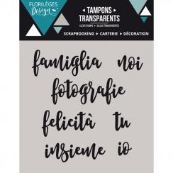 PROMO de -40% sur Tampons clear italien Paroline 1 Florilèges Design