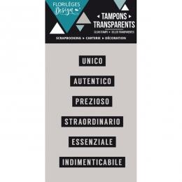 Tampons clear italien Mini parole 1 par Florilèges Design. Scrapbooking et loisirs créatifs. Livraison rapide et cadeau dans ...