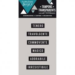 Tampons clear italien Mini parole 2 par Florilèges Design. Scrapbooking et loisirs créatifs. Livraison rapide et cadeau dans ...