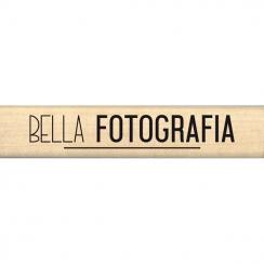 Tampon bois italien BELLA FOTOGRAFIA