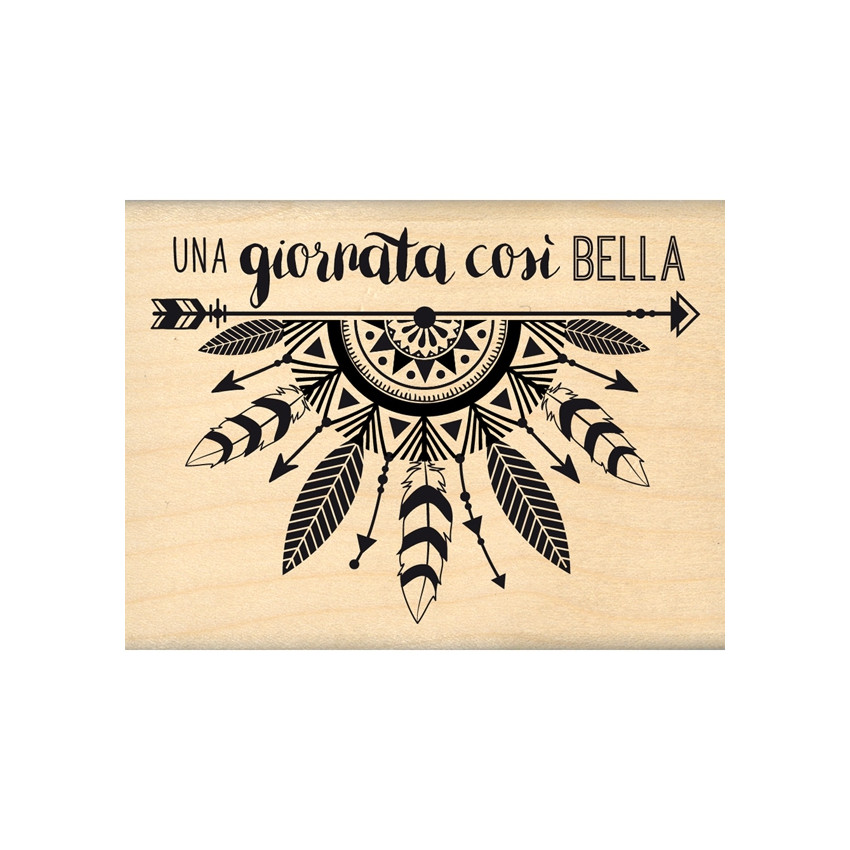 Tampon bois italien GIORNATA COSI BELLA par Florilèges Design. Scrapbooking et loisirs créatifs. Livraison rapide et cadeau d...