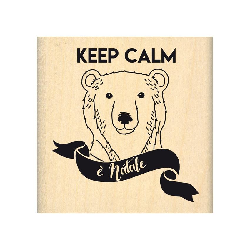 Tampon bois italien KEEP CALM è NATALE par Florilèges Design. Scrapbooking et loisirs créatifs. Livraison rapide et cadeau da...
