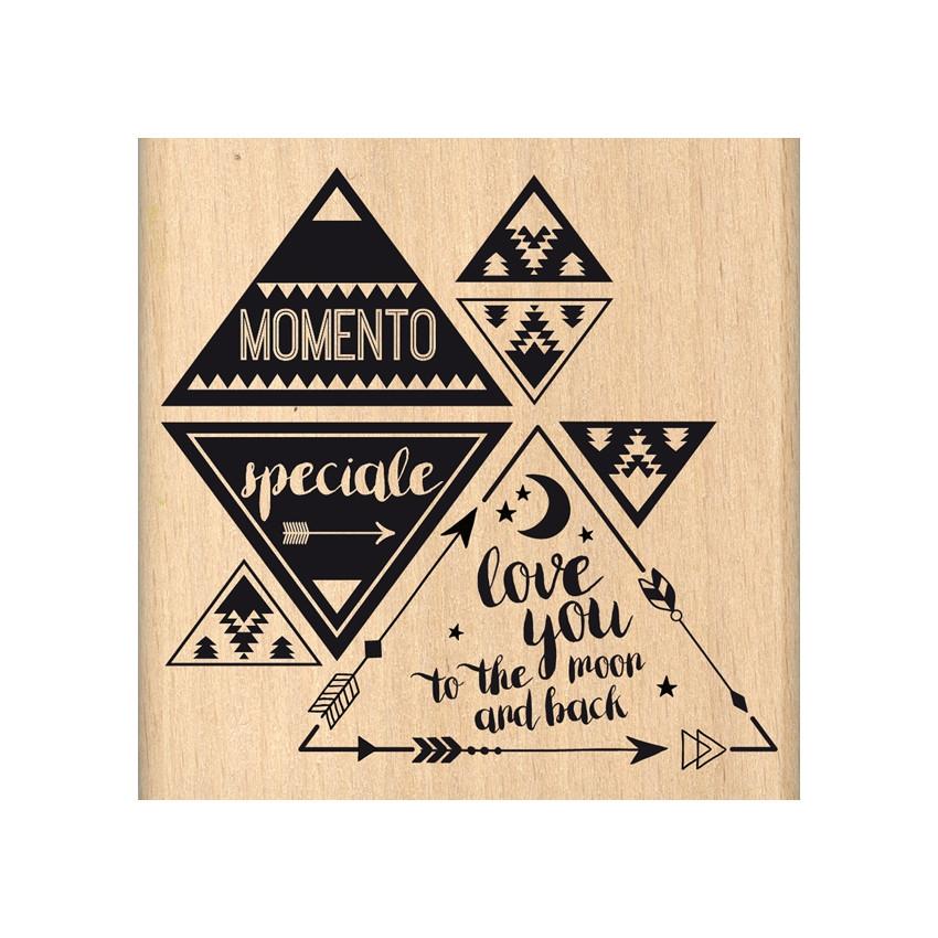 Tampon bois italien MOMENTO SPECIALE par Florilèges Design. Scrapbooking et loisirs créatifs. Livraison rapide et cadeau dans...