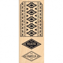 Tampon bois italien ETICHETTA AZTEC par Florilèges Design. Scrapbooking et loisirs créatifs. Livraison rapide et cadeau dans ...