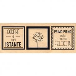 Tampon bois italien NOSTRA FELICITÀ par Florilèges Design. Scrapbooking et loisirs créatifs. Livraison rapide et cadeau dans ...