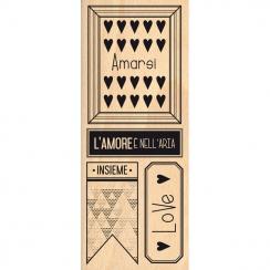 Tampon bois italien L'AMORE E NELL' ARIA