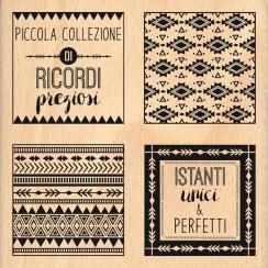 Tampon bois italien COLLEZIONE DI RICORDI par Florilèges Design. Scrapbooking et loisirs créatifs. Livraison rapide et cadeau...