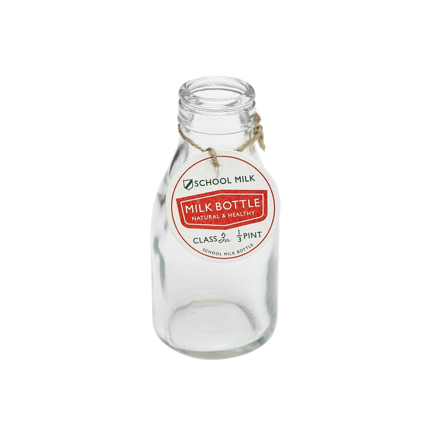 Traditional school milk bottle
