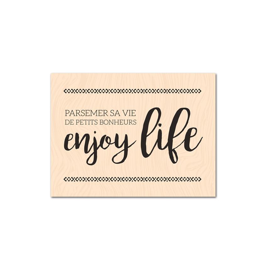Tampon bois ENJOY LIFE