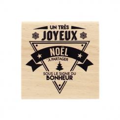 Tampon bois NOËL BONHEUR-Capsule Novembre
