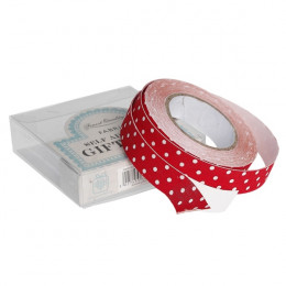 Red spotty fabric sticky gift tape
