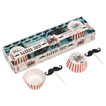 Set cupcakes BARBER SHOP MOUSTACHE