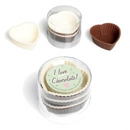 PROMO de -60% sur Caissettes à chocolats coeurs