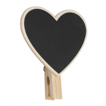 MINI BLACKBOARD HEART PEG