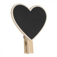 MINI BLACKBOARD HEART PEG