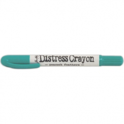 Pastel Distress Crayon PEACOCK  FEATHERS