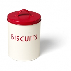 Boite mtal  biscuits rouge