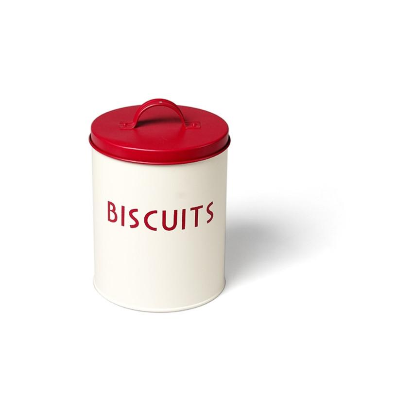PROMO de -70% sur Boite métal à biscuits couvercle rougeOK Rex