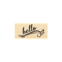 Tampon bois HELLO GRUNGE par Florilèges Design. Scrapbooking et loisirs créatifs. Livraison rapide et cadeau dans chaque comm...
