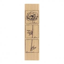 Tampon bois BRIN DE DOUCEUR par Florilèges Design. Scrapbooking et loisirs créatifs. Livraison rapide et cadeau dans chaque c...