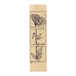 Tampon bois PENSÉE POUR TOI par Florilèges Design. Scrapbooking et loisirs créatifs. Livraison rapide et cadeau dans chaque c...