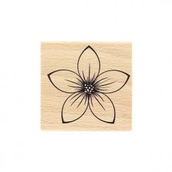 Tampon bois FLEUR ISABELLA par Florilèges Design. Scrapbooking et loisirs créatifs. Livraison rapide et cadeau dans chaque co...