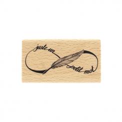 Tampon bois PETIT MOT INFINI par Florilèges Design. Scrapbooking et loisirs créatifs. Livraison rapide et cadeau dans chaque ...