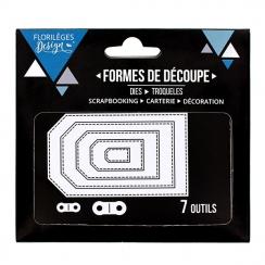Outils de découpe TAGS BASIQUES par Florilèges Design. Scrapbooking et loisirs créatifs. Livraison rapide et cadeau dans chaq...
