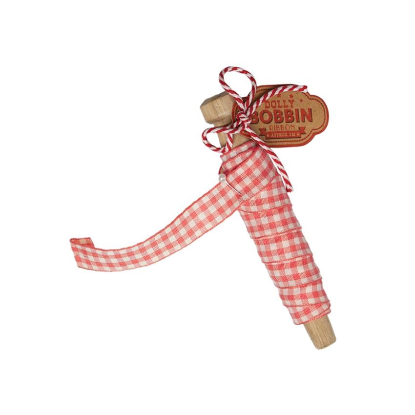 Bobine de ruban vichy rose par Rex. Scrapbooking et loisirs créatifs. Livraison rapide et cadeau dans chaque commande.