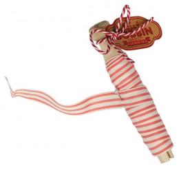 Bobine de ruban rayé rose et blanc par Rex. Scrapbooking et loisirs créatifs. Livraison rapide et cadeau dans chaque commande.
