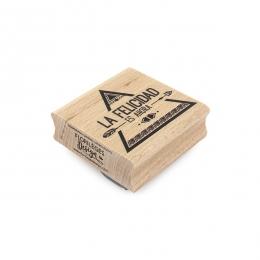 Tampon bois espagnol AHORA LA FELICIDAD par Florilèges Design. Scrapbooking et loisirs créatifs. Livraison rapide et cadeau d...