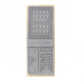 Tampon bois espagnol AMOR EN EL AIRE par Florilèges Design. Scrapbooking et loisirs créatifs. Livraison rapide et cadeau dans...