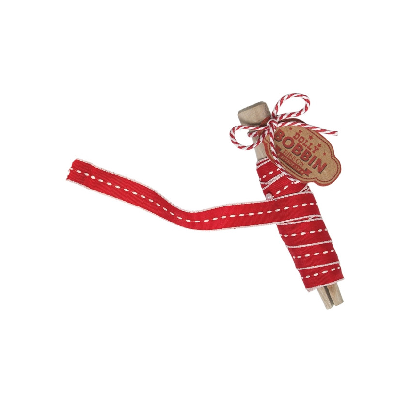 DOllY BOBBIN RIBBON RED TIC KING