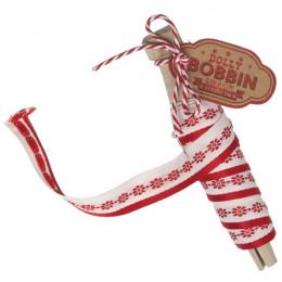 Bobine de ruban à fleurs rouges par Rex. Scrapbooking et loisirs créatifs. Livraison rapide et cadeau dans chaque commande.