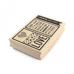 Tampon bois espagnol DISFRUTAR SIMPLEMENTE par Florilèges Design. Scrapbooking et loisirs créatifs. Livraison rapide et cadea...