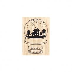 Tampon bois espagnol FELICES FIESTAS