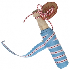 DOllY BOBBIN RIBBON BLUE TICKING