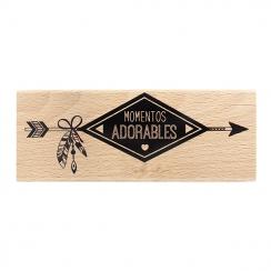 Tampon bois espagnol MOMENTOS ADORABLES