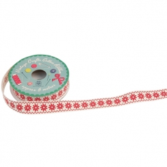 Ruban vintage RED DAISY