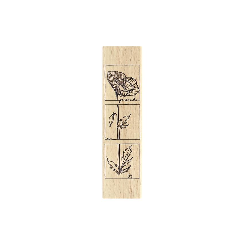 Tampon bois espagnol PENSANDO EN TI par Florilèges Design. Scrapbooking et loisirs créatifs. Livraison rapide et cadeau dans ...