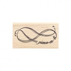 Tampon bois espagnol PIENSO EN TI par Florilèges Design. Scrapbooking et loisirs créatifs. Livraison rapide et cadeau dans ch...