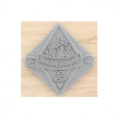 Tampon bois espagnol SÓLO POR PLACER par Florilèges Design. Scrapbooking et loisirs créatifs. Livraison rapide et cadeau dans...