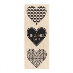 Tampon bois espagnol TE QUIERO TANTO par Florilèges Design. Scrapbooking et loisirs créatifs. Livraison rapide et cadeau dans...