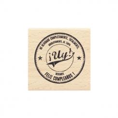Commandez Tampon bois espagnol ¡UY! Florilèges Design. Livraison rapide et cadeau dans chaque commande.