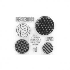 Tampons clears BURBUJAS GEOMÉTRICAS par Florilèges Design. Scrapbooking et loisirs créatifs. Livraison rapide et cadeau dans ...