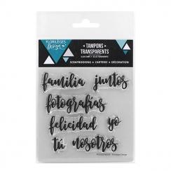 Parfait pour créer : Tampons clears PALABRITAS 1 par Florilèges Design. Livraison rapide et cadeau dans chaque commande.