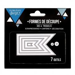 PROMO de -20% sur Outils de découpe FANIONS BASIQUES Florilèges Design